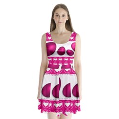 Love Celebration Easter Hearts Split Back Mini Dress