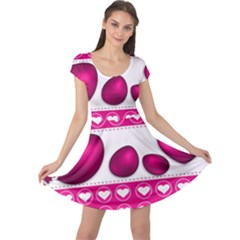 Love Celebration Easter Hearts Cap Sleeve Dress
