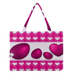 Love Celebration Easter Hearts Medium Tote Bag by Sapixe