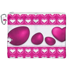 Love Celebration Easter Hearts Canvas Cosmetic Bag (xxl) by Sapixe