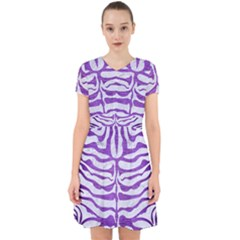 Skin2 White Marble & Purple Brushed Metal (r) Adorable In Chiffon Dress