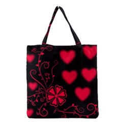 Background Hearts Ornament Romantic Grocery Tote Bag by Sapixe