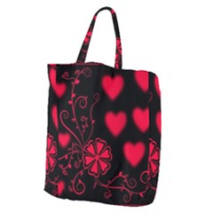 Background Hearts Ornament Romantic Giant Grocery Zipper Tote