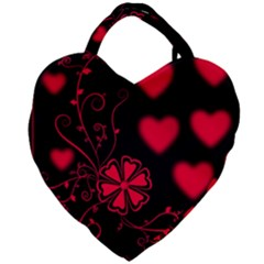 Background Hearts Ornament Romantic Giant Heart Shaped Tote