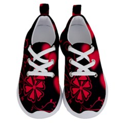 Background Hearts Ornament Romantic Running Shoes