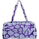 SKIN1 WHITE MARBLE & PURPLE BRUSHED METAL Multi Function Bag	 View1
