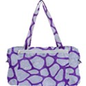 SKIN1 WHITE MARBLE & PURPLE BRUSHED METAL Multi Function Bag	 View2