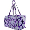 SKIN1 WHITE MARBLE & PURPLE BRUSHED METAL Multi Function Bag	 View3