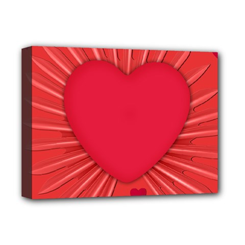 Background Texture Heart Love Deluxe Canvas 16  X 12