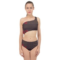 Design Background Reason Texture Spliced Up Two Piece Swimsuit