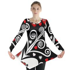 Ornament Background Long Sleeve Tunic