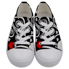 Ornament Background Kids  Low Top Canvas Sneakers
