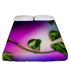 Leaves Green Leaves Background Fitted Sheet (queen Size)