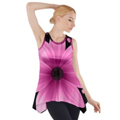 Flower Plant Floral Petal Nature Side Drop Tank Tunic