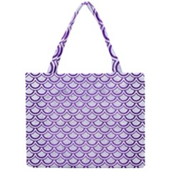 Scales2 White Marble & Purple Brushed Metal (r) Mini Tote Bag
