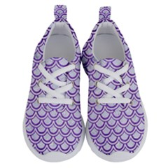 Scales2 White Marble & Purple Brushed Metal (r) Running Shoes