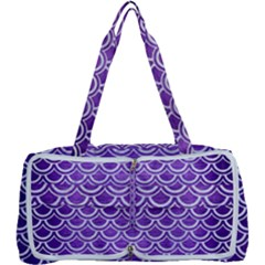 Scales2 White Marble & Purple Brushed Metal Multi Function Bag
