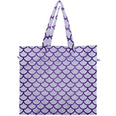 Scales1 White Marble & Purple Brushed Metal (r) Canvas Travel Bag by trendistuff