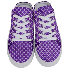 Scales1 White Marble & Purple Brushed Metal Half Slippers