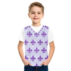 Royal1 White Marble & Purple Brushed Metal Kids  Sportswear
