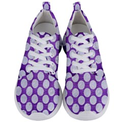 Circles2 White Marble & Purple Brushed Metal Men s Lightweight Sports Shoes