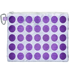 Circles1 White Marble & Purple Brushed Metal (r) Canvas Cosmetic Bag (xxxl)