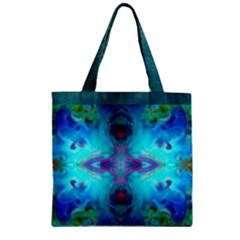 Awaken Zipper Grocery Tote Bag