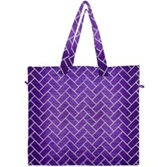 Brick2 White Marble & Purple Brushed Metal Canvas Travel Bag by trendistuff