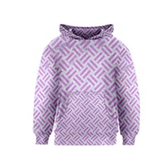 Woven2 White Marble & Purple Colored Pencil (r) Kids  Pullover Hoodie