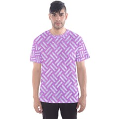 Woven2 White Marble & Purple Colored Pencil Men s Sports Mesh Tee