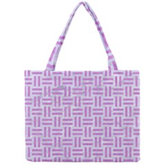 Woven1 White Marble & Purple Colored Pencil (r) Mini Tote Bag