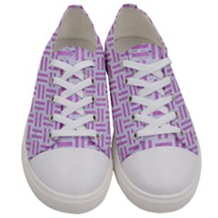 Woven1 White Marble & Purple Colored Pencil (r) Women s Low Top Canvas Sneakers