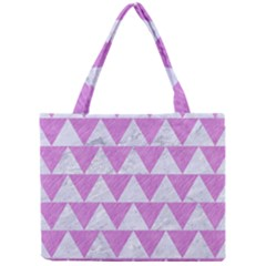 Triangle2 White Marble & Purple Colored Pencil Mini Tote Bag