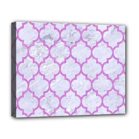 Tile1 White Marble & Purple Colored Pencil (r) Deluxe Canvas 20  X 16