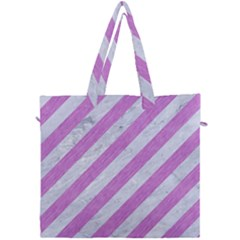 Stripes3 White Marble & Purple Colored Pencil (r) Canvas Travel Bag by trendistuff