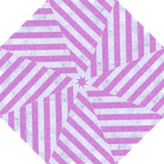 Stripes3 White Marble & Purple Colored Pencil Golf Umbrellas