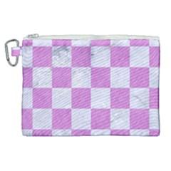 Square1 White Marble & Purple Colored Pencil Canvas Cosmetic Bag (xl) by trendistuff