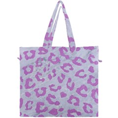 Skin5 White Marble & Purple Colored Pencil Canvas Travel Bag by trendistuff