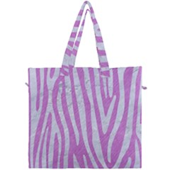 Skin4 White Marble & Purple Colored Pencil (r) Canvas Travel Bag by trendistuff