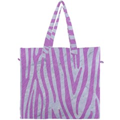 Skin4 White Marble & Purple Colored Pencil Canvas Travel Bag by trendistuff