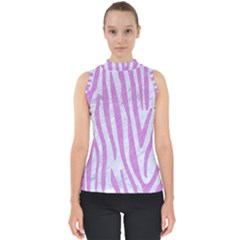 Skin4 White Marble & Purple Colored Pencil Shell Top