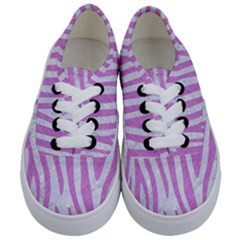 Skin4 White Marble & Purple Colored Pencil Kids  Classic Low Top Sneakers