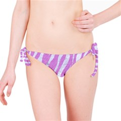 Skin3 White Marble & Purple Colored Pencil Bikini Bottom