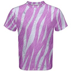 Skin3 White Marble & Purple Colored Pencil Men s Cotton Tee