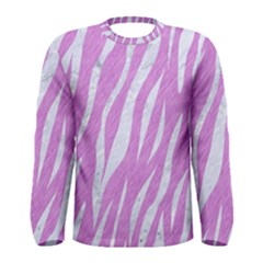 Skin3 White Marble & Purple Colored Pencil Men s Long Sleeve Tee