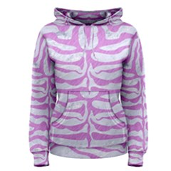 Skin2 White Marble & Purple Colored Pencil (r) Women s Pullover Hoodie