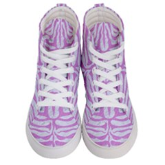 Skin2 White Marble & Purple Colored Pencil (r) Men s Hi Top Skate Sneakers
