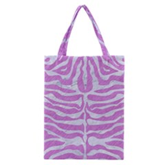 Skin2 White Marble & Purple Colored Pencil Classic Tote Bag