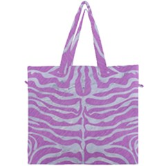 Skin2 White Marble & Purple Colored Pencil Canvas Travel Bag by trendistuff
