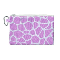 Skin1 White Marble & Purple Colored Pencil (r) Canvas Cosmetic Bag (large)